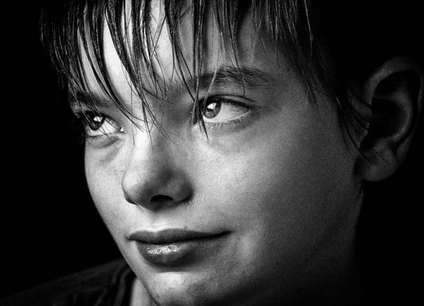 Bangs Photograph - Portrait Of Smiling Boy by David Schlemer / Eyeem