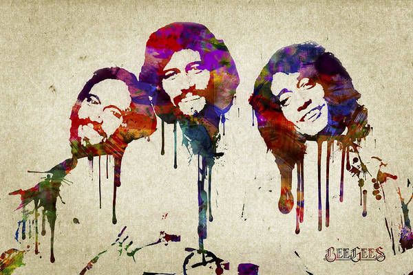 Wall Art - Digital Art - Portrait Of The Bee Gees by Aged Pixel