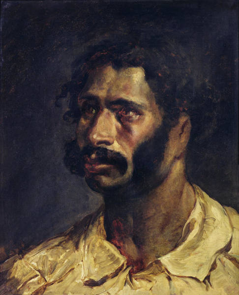 Moustaches Photograph - Portrait Of The Carpenter Of The Medusa, C.1812 Oil On Canvas by Theodore Gericault