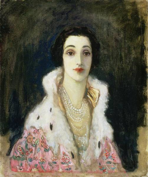 Ermine Wall Art - Painting - Portrait Of The Countess Of Rocksavage by Sir John Lavery