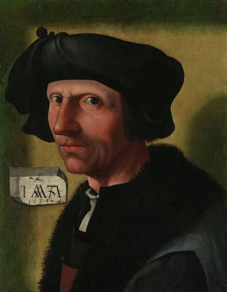 Wall Art - Painting - Portrait Of The Painter Jacob Cornelisz Van Oostsanen by Quint Lox