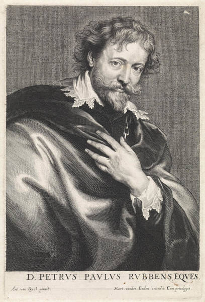 Wall Art - Painting - Portrait Of The Painter Peter Paul Rubens by Quint Lox