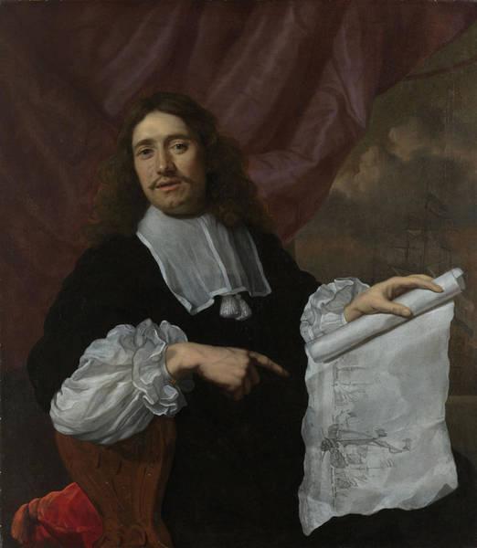 Wall Art - Painting - Portrait Of The Painter Willem Van De Velde II by Litz Collection