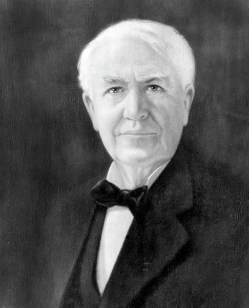 Experiment Painting - Portrait Of Thomas A. Edison As Senior by Vintage Images
