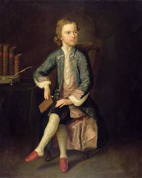 Arthurs Seat Painting - Portrait Of Thomas Gray C.1731 by Arthur Pond