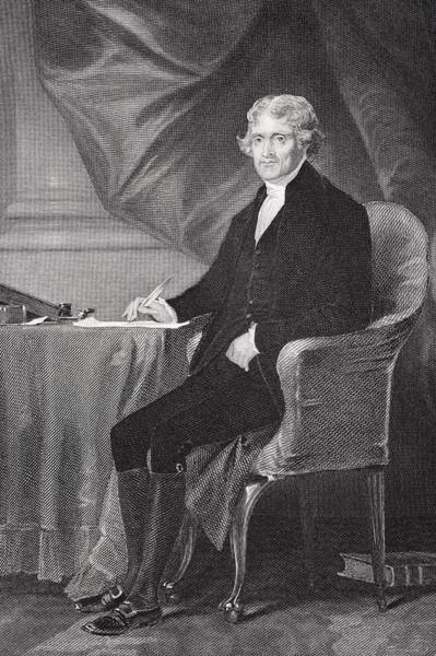 Alonzo Drawing - Portrait Of Thomas Jefferson by Alonzo Chappel