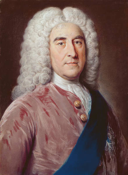 Whig Photograph - Portrait Of Thomas Pelham Holles 1693-1768 Duke Of Newcastle Under Lyme, Pastel On Paper by William, of Bath Hoare