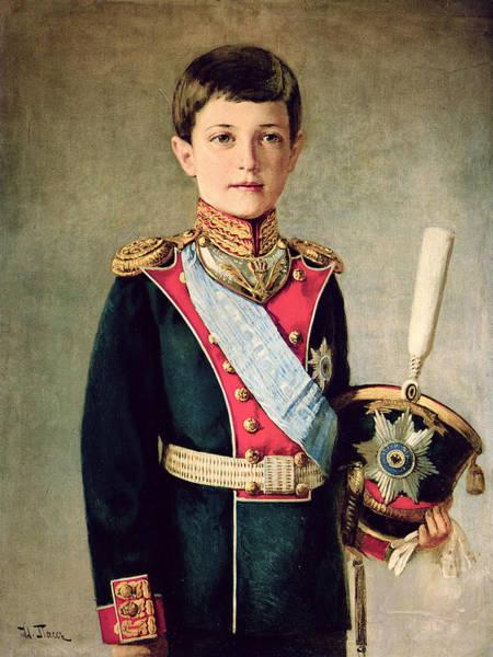 Epaulette Photograph - Portrait Of Tsarevitch Alexei Nikolaevich; by Israel Abramovich Pass