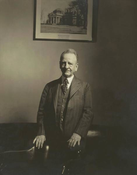 Wall Art - Photograph - Portrait Of U.s. Congressman by Edward Steichen