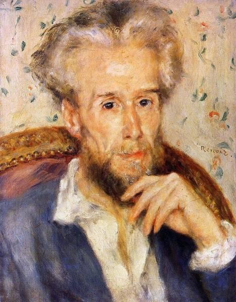 Winterthur Wall Art - Painting - Portrait Of Victor Chocquet by Pierre-Auguste Renoir