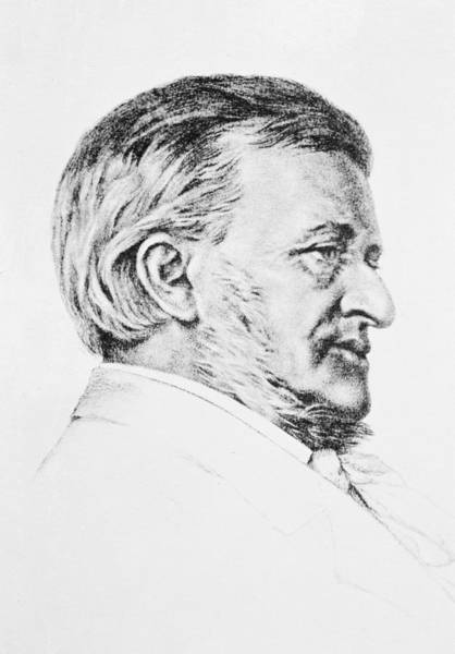 Wall Art - Drawing - Portrait Of Wagner by Anonymous