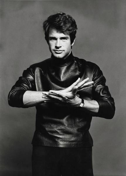Glamour Photograph - Portrait Of Warren Beatty by Jack Robinson