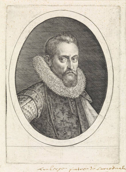 Wall Art - Painting - Portrait Of Wenzel Coebergher, Crispijn Van De Passe by Crispijn Van De Passe (i)