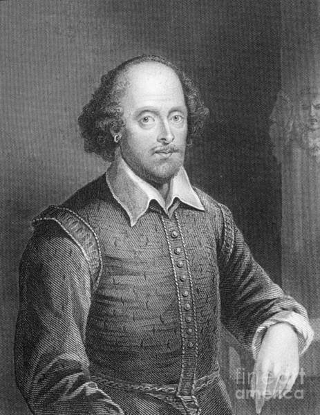 English Drawing - Portrait Of William Shakespeare by English School