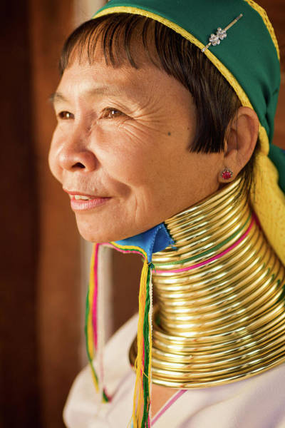 Real People Photograph - Portrait Of Woman From Long Neck by Hadynyah