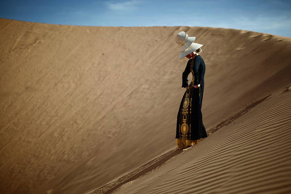 Adolescence Photograph - Portrait Of Woman In Desert by Piskunov