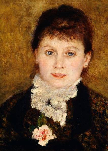 Serious Painting - Portrait Of Woman by Pierre-Auguste Renoir