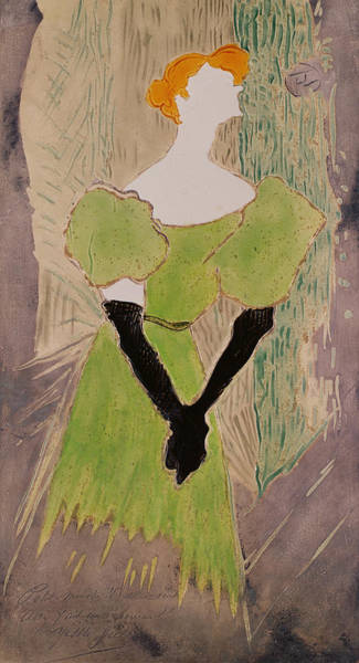 Faceless Painting - Portrait Of Yvette Guilbert by Henri de Toulouse-Lautrec