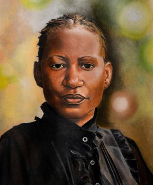 Plaits Painting - Portrait Sample 2 by Eva Chikabadwa
