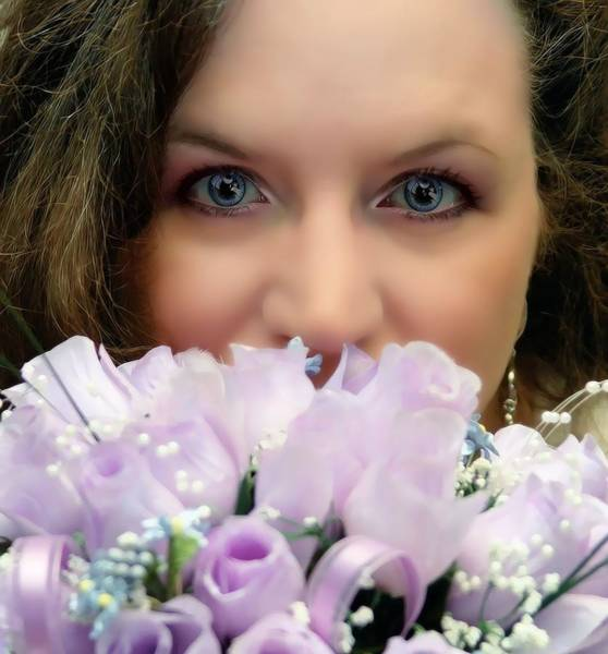 Photograph - Portrait With Bouquet by Kathy McCabe