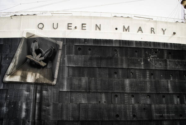 Wall Art - Photograph - Portside Anchor 02 Queen Mary Ocean Liner Long Beach Ca by Thomas Woolworth
