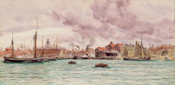Brett Wall Art - Painting - Portsmouth Harbor by John Brett