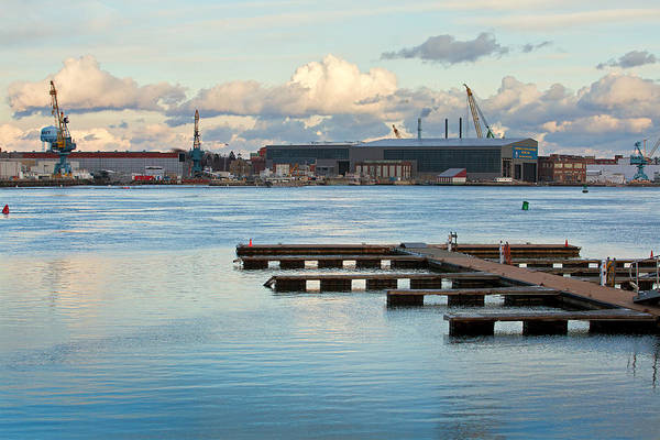 Wall Art - Photograph - Portsmouth Shipyard And Docks by Eric Gendron