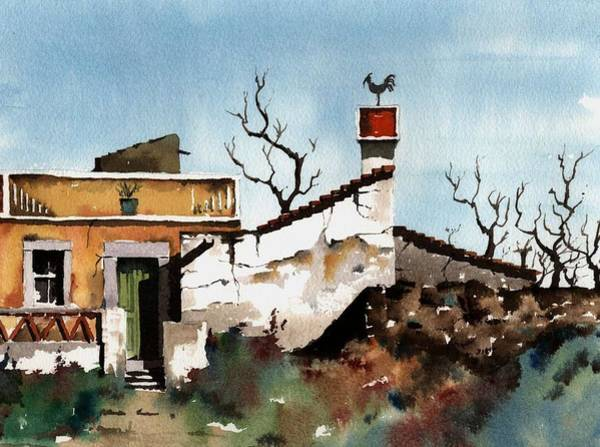 Painting - Portugal  Abandoned Nr  Loule by Val Byrne