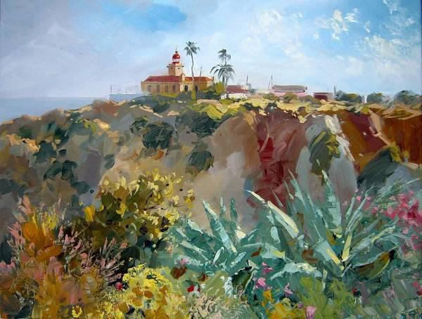 Lagos Painting - Portugal Algarve Lagos Da Ponta Da Piedade by Volodymyr Klemazov