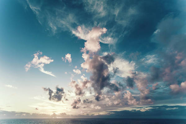 Sagre Wall Art - Photograph - Portugal, Cloudy Sky Over Sea by Westend61
