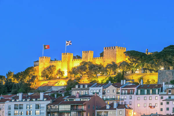 Lisbon Castle Photograph - Portugal, Lisbon, Sao Jorge Castle by Rob Tilley