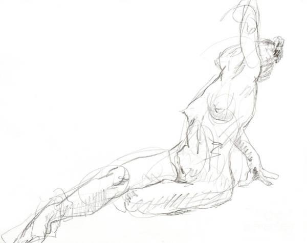 Nipples Drawing - Posed Sara 2 by Andy Gordon