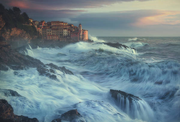 Waves Photograph - Poseido Awakens by Paolo Lazzarotti