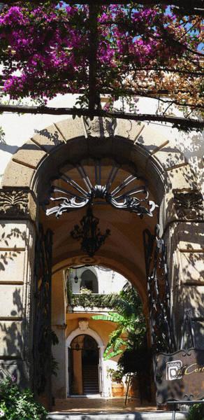Court House Photograph - Positano Courtyard Italy Summer by Irina Sztukowski