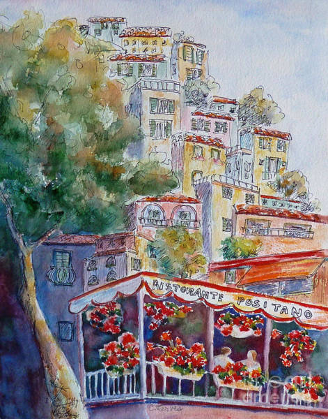 Painting - Positano Restaurant by Carolyn Jarvis