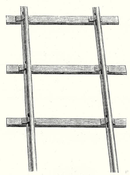 Wall Art - Drawing - Position Of The Rails On The Railway Sleepers by English School