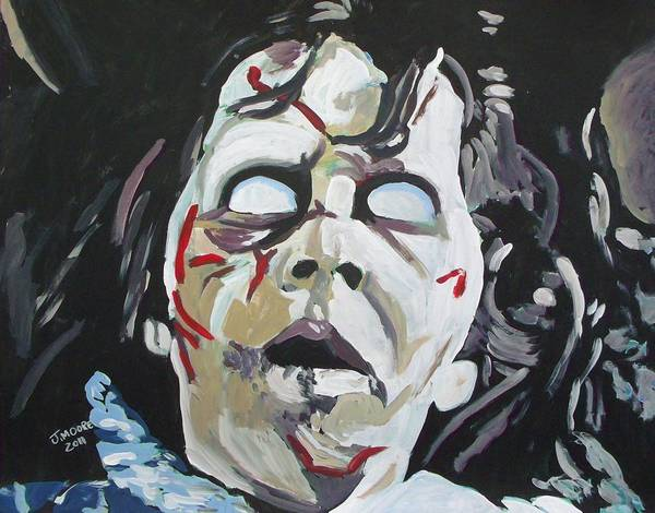 Child Actress Painting - Possessed by Jeremy Moore