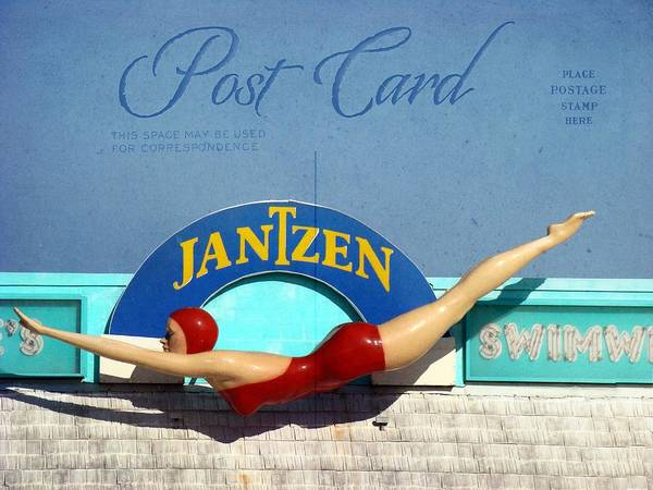Photograph - Post Card Diving Girl by Alice Gipson