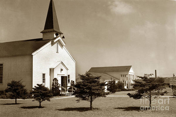 Photograph - Post Chapel And Red Cross Building Fort Ord Army Base California 1950 by California Views Archives Mr Pat Hathaway Archives