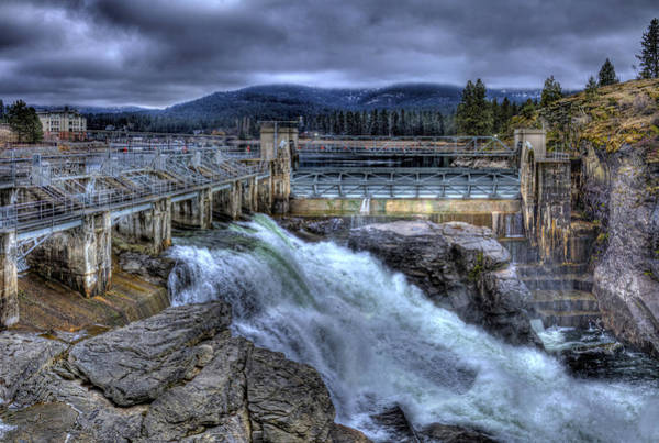 Photograph - Post Falls Dam March 2013 by Lee Santa