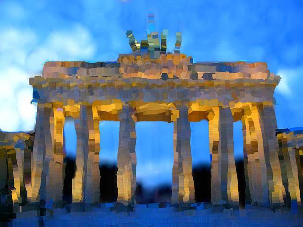 Post-it Painting - Post-it Art Berlin Brandenburg Gate by Bruce Nutting