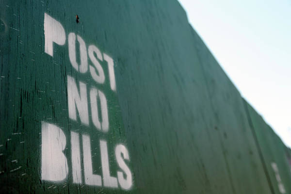 Forbidden City Photograph - Post No Bills Sign by Snap Decision