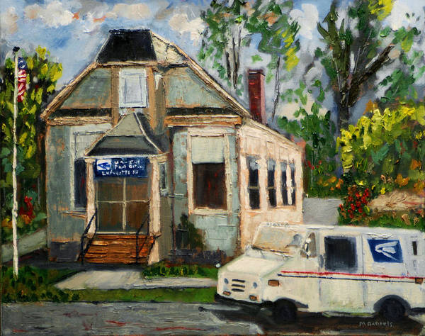 Delivery Truck Painting - Post Office At Lafeyette Nj by Michael Daniels