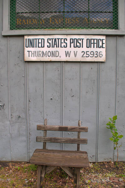 Photograph - Post Office Bench by Paulette B Wright