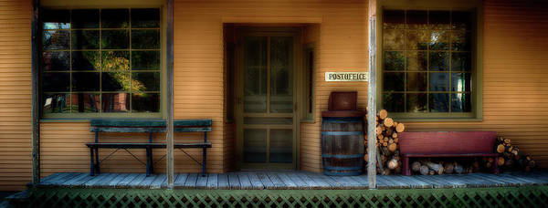 Wall Art - Photograph - Post Office Porch At Historic by Panoramic Images