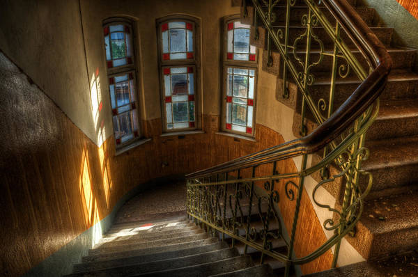 Wall Art - Digital Art - Post Office Stairs by Nathan Wright
