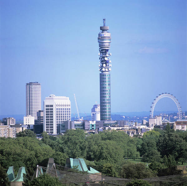London Eye Photograph - Post Office Tower by Mark Thomas/science Photo Library