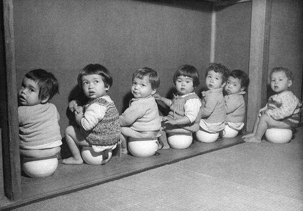 Toilet Photograph - Post-war Japanese Orphanage by Underwood Archives