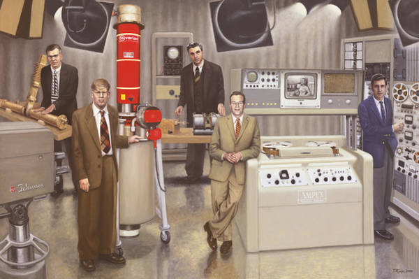 Silicon Valley Wall Art - Painting - Post Wwii Inventors by Terry Guyer