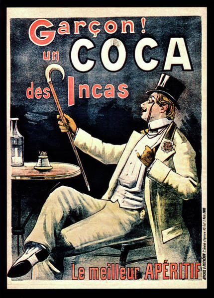Tonic Photograph - Postcard Advertising Coca Des Incas by National Library Of Medicine